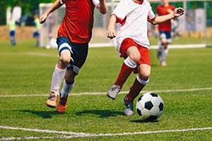 Werbemittel Fußball