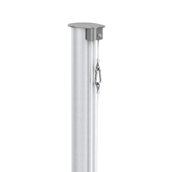 Fahnenmast aus Aluminium, zylindrisch