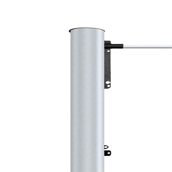 Fahnenmast aus Aluminium, elliptisch