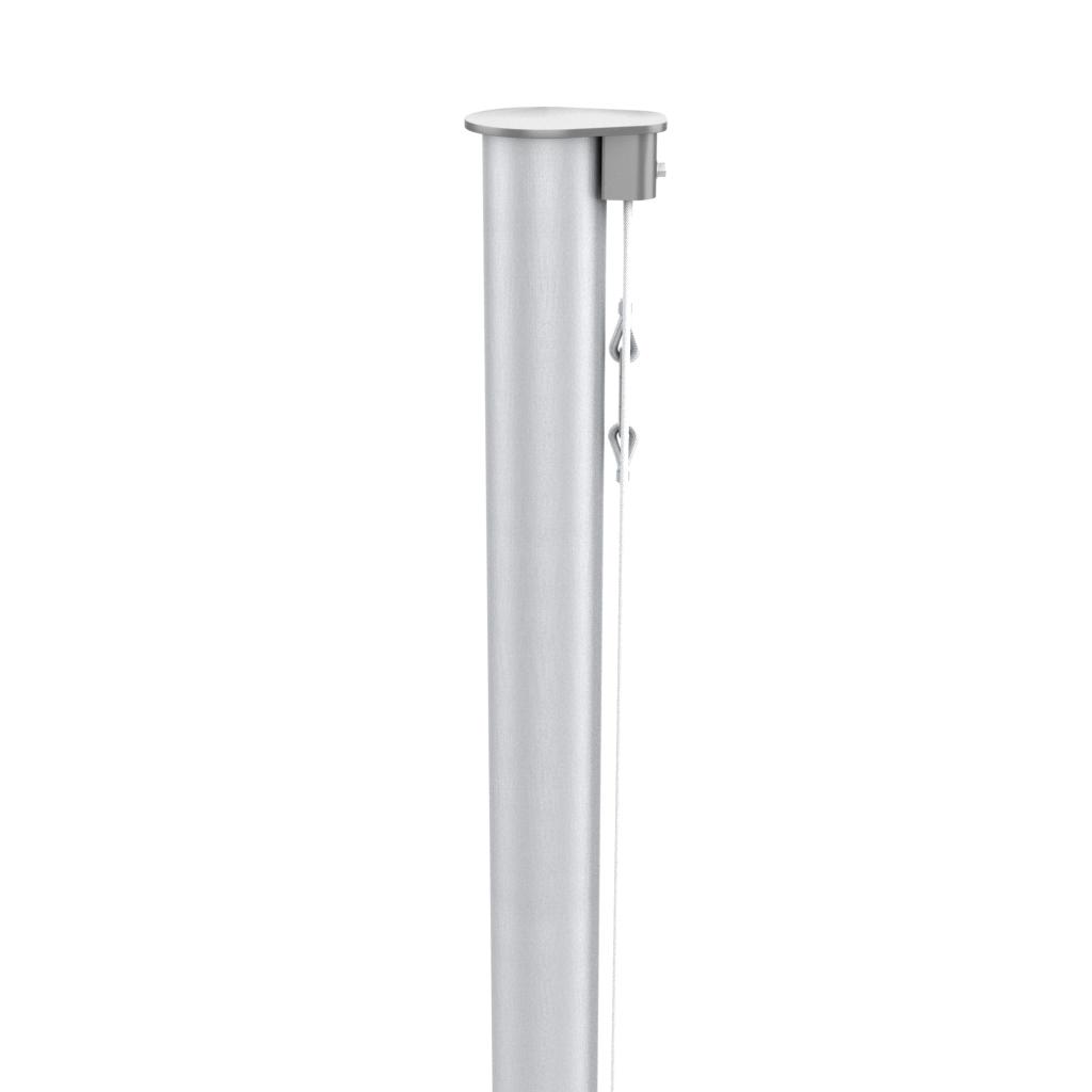 Fahnenmast aus Aluminium, konisch