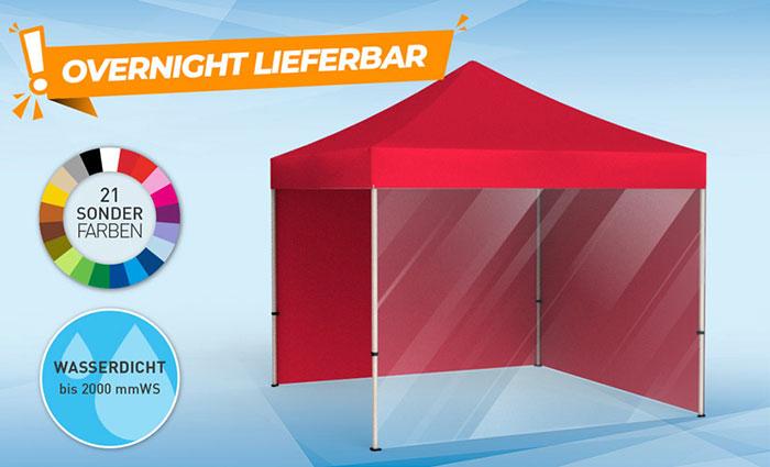 Einfarbige Zelte in Grundfarben bestellen