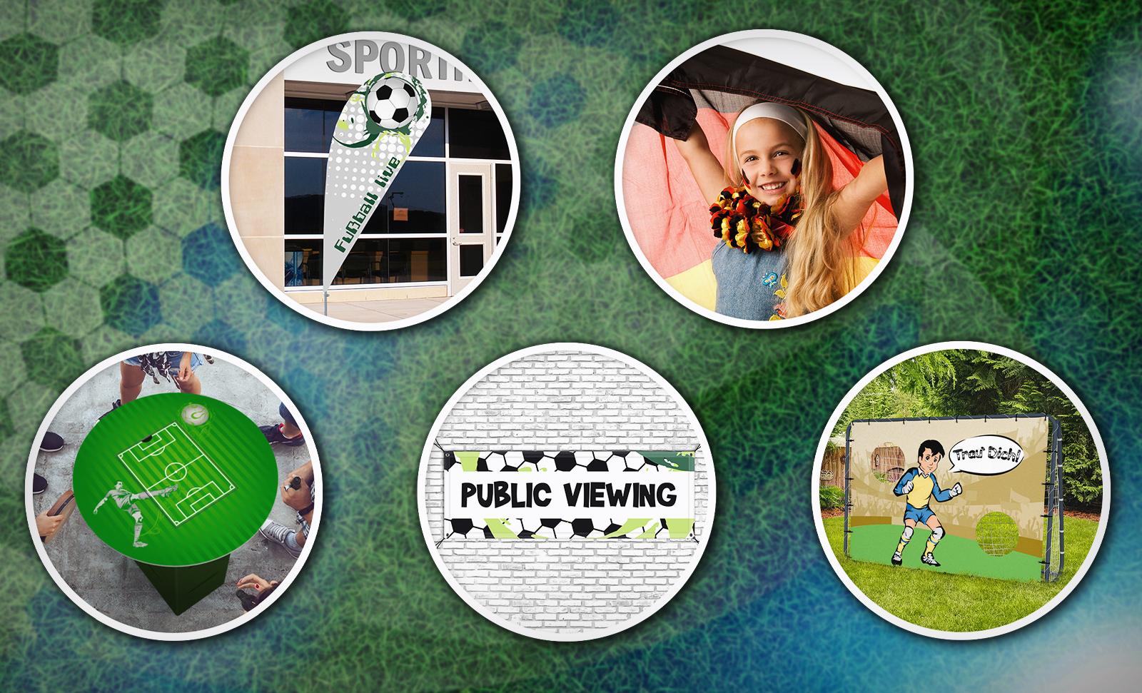 Fussball-Produkte mit fertiger Gestaltung