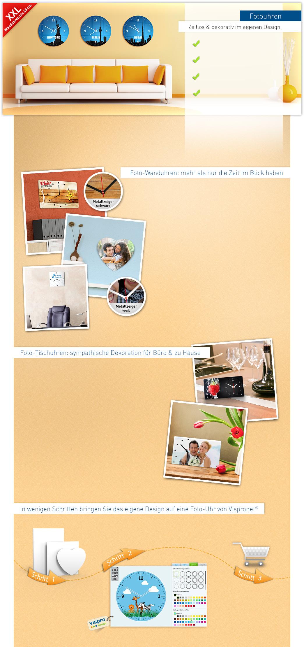 fotouhren drucken wanduhren tischuhren selbst gestalten. Black Bedroom Furniture Sets. Home Design Ideas