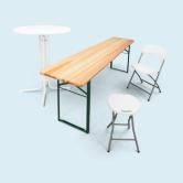 Tische, Bänke, Stühle & Hocker