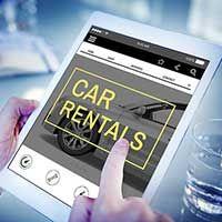 Werbemittel für Autovermietungen