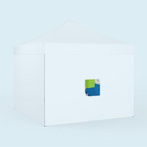 quadratische Wechselbanner, für Wände