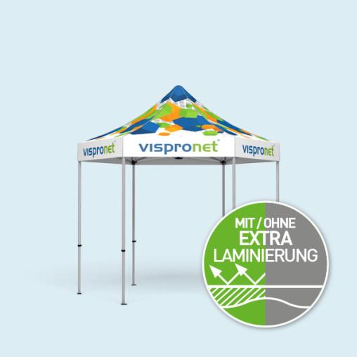Faltpavillon Select Hexagon 3 m, Dach & Volant mit Druck