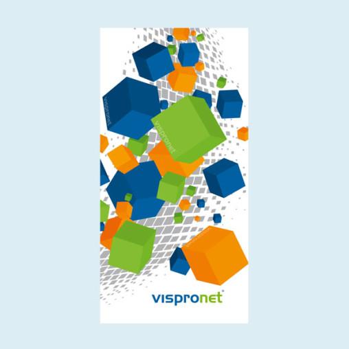 Werbebanner, PVC-Banner im Hochformat