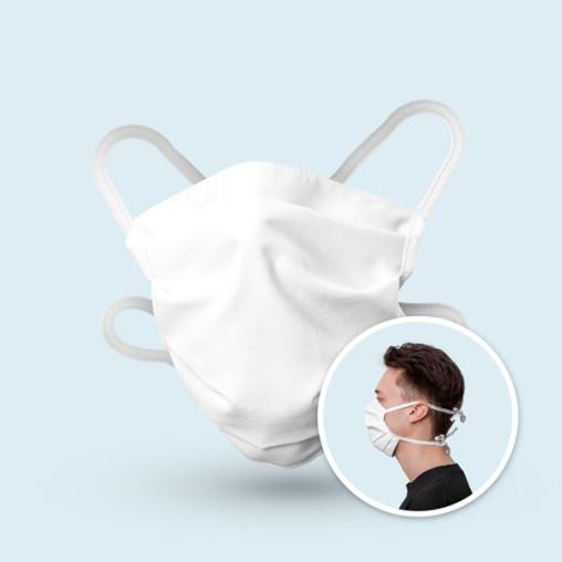 Mund- und Nasenmaske aus 100 % Baumwolle - passt sich der Gesichtsform an