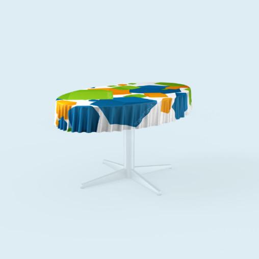 Tischdecken für ovale Tische, Ausführung: ringsum geschnitten