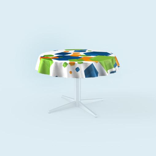 Tischdecken für runde Tische, Ausführung: ringsum geschnitten