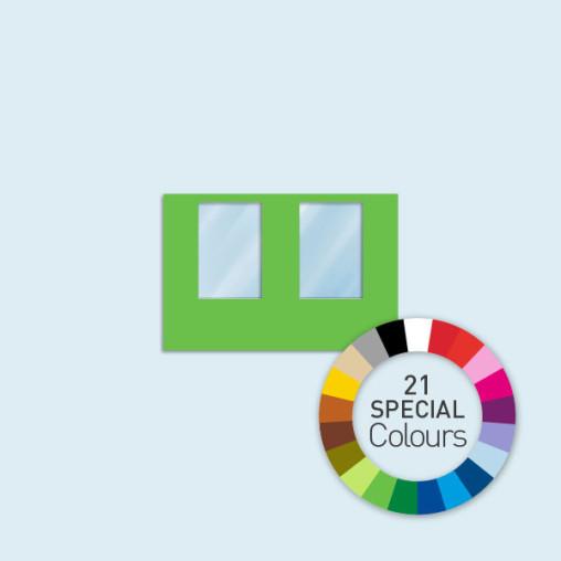 Wand mit 2 Fenstern 300 x 205 cm Basic/Select, in 21 Sonderfarben erhältlich