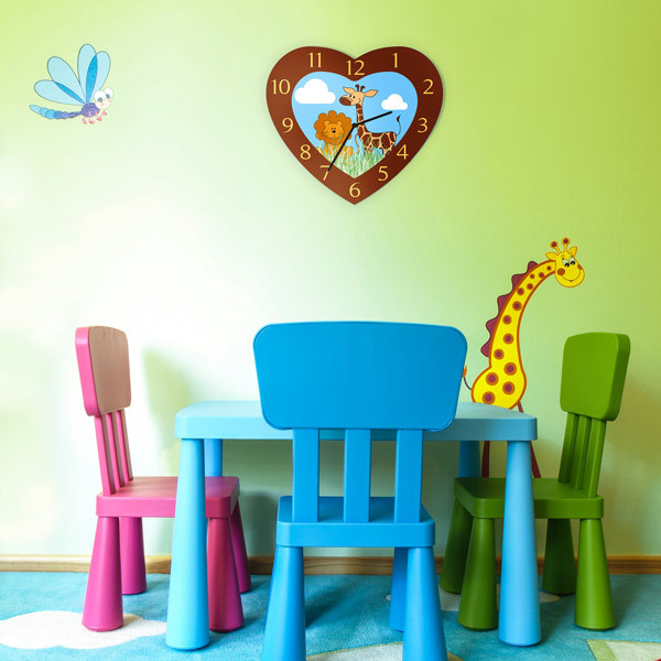 herzf rmige fotouhren selbst gestalten online kaufen. Black Bedroom Furniture Sets. Home Design Ideas