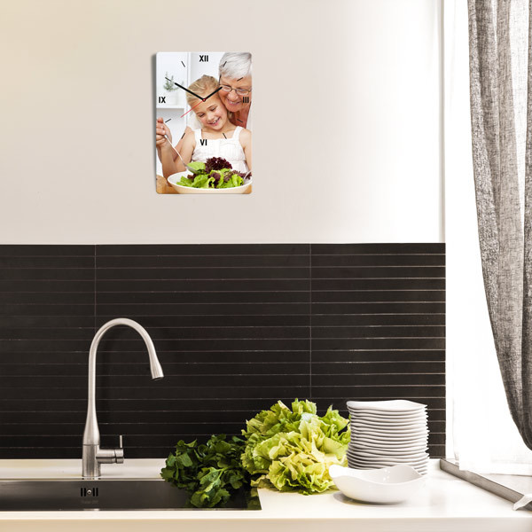 foto wanduhren rechteckig selbst gestalten kaufen. Black Bedroom Furniture Sets. Home Design Ideas