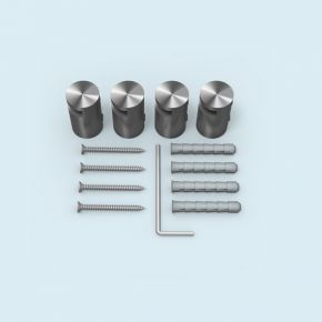 Klemmhalter Edelstahl ø 15 mm/15 mm für Plattenstärke 2-5 mm, 4er-Set
