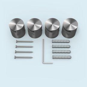 Klemmhalter Edelstahl ø 25 mm/15 mm für Plattenstärke 2-5 mm, 4er-Set