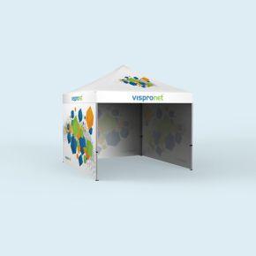 Faltzelt Basic 3 x 3 m mit 3 Wänden, mit Druck