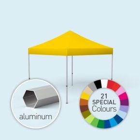 Faltpavillon Select, 3 x 3 m, gedruckt in Sonderfarben, Farbbeispiel sonnengelb