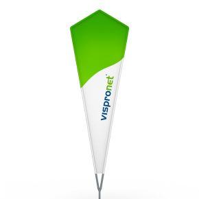 Beachflag® Crystal, Hohlsaum bedruckt - ca. 10 % mehr Werbefläche