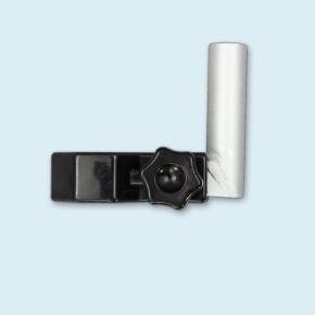 senkrechter Bowflag®-Halter für Zeltpfosten aus Achtkantprofilen
