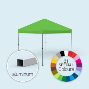 Faltpavillon Compact, Dach & Volant in Sonderfarben, ohne Wände