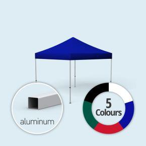 Faltpavillon Compact, Dach & Volant in Grundfarben, ohne Wände