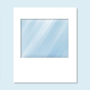 Wand Hexagon mit Panoramafenster, weiß, Breite 2 m