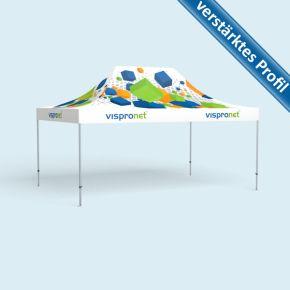 Faltpavillon Select 4 x 6 m, Dach & Volant mit Druck, ohne Zeltwände