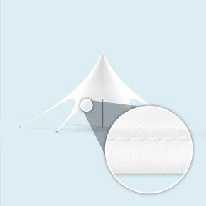 Sternpavillon mit Einfassband, weiß