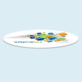 Schutzplatten für Tische oval, mit Druck
