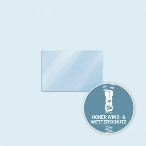 Vollwand Basic/Select/Eco 300 x 205 cm, transparent, Seitenkanten mit Reißverschluss