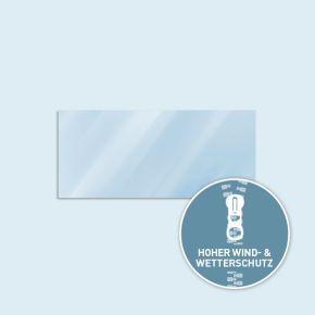 Vollwand Basic/Select 450 x 205 cm, transparent, Seitenkanten mit Reißverschluss