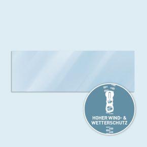 Vollwand Basic/Select 600 x 205 cm, transparent, Seitenkanten mit Reißverschluss