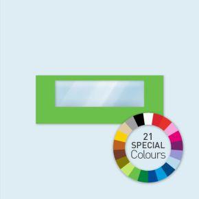 Wand mit 1 Panoramafenster Select 600 x 220 cm, in Sonderfarben, Seitenkanten mit Befestigungsschlaufen