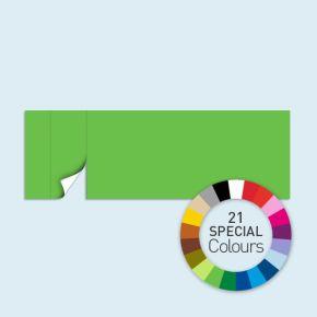 Wand mit 1 Tür links Basic/Select 600 x 205 cm, in Sonderfarben, Seitenkanten mit Reißverschluss