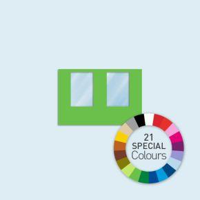 Wand mit 2 Fenstern Basic/Select/Eco 300 x 205 cm, in Sonderfarben, Seitenkanten mit Befestigungsschlaufen