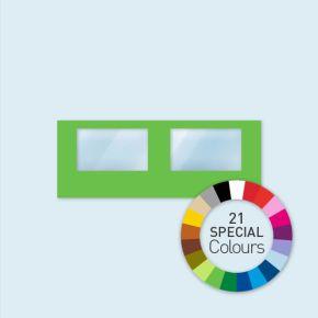 Wand mit 2 Panoramafenstern Select 600 x 220 cm, in Sonderfarben, Seitenkanten mit Befestigungsschlaufen