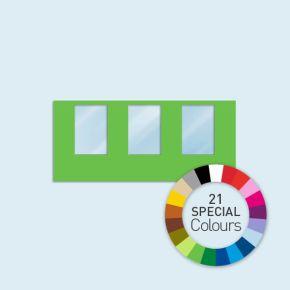 Wand mit 3 Fenstern Basic/Select 450 x 205 cm, in Sonderfarben, Seitenkanten mit Befestigungsschlaufen