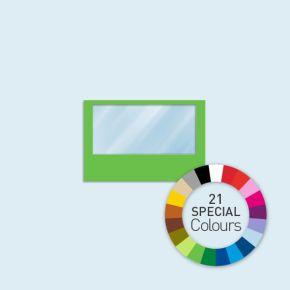 Wand mit 1 Panoramafenster Basic/Select/Eco 300 x 205 cm, in Sonderfarben, Seitenkanten mit Befestigungsschlaufen