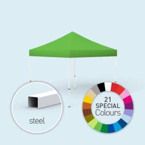 Faltpavillon Eco, Dach & Volant in Sonderfarben, ohne Wände