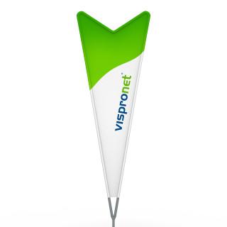 Beachflag® Dart, Hohlsaum bedruckt - ca. 10 % mehr Werbefläche