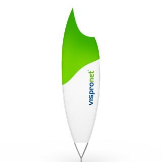Beachflag® Moon, Hohlsaum bedruckt - ca. 10 % mehr Werbefläche