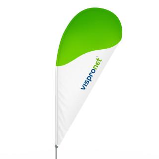 Bowflag® Tropfen, Hohlsaum bedruckt - ca. 10 % mehr Werbefläche neu