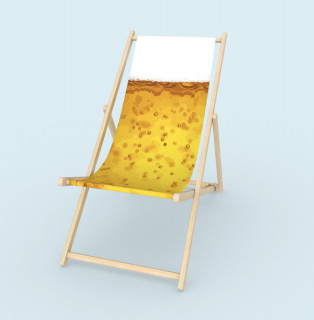 Liegestuhl ohne Armlehne - Bier