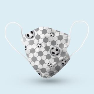 Mund-Nasen-Schutz, 17 x 9 cm - Fußballnetz