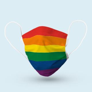 Mund-Nasen-Schutz, 17 x 9 cm - Regenbogen