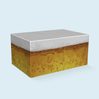 Palettenhusse, 4 Paletten, 120x 80 x 58 cm - Bier